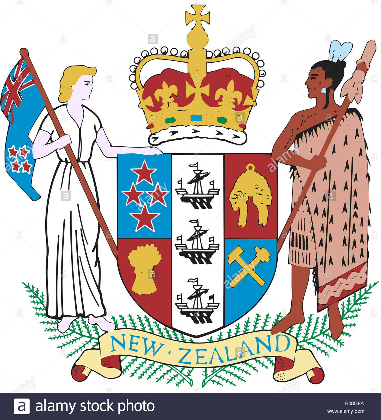 Heraldry, Emblem, New Zealand, National Coat Of Arms, Introduced.