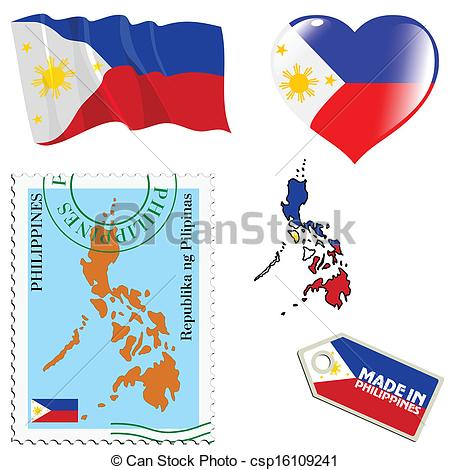 EPS Vector of national colours of Philippines.