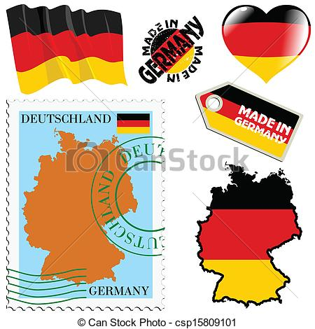 Vector Clipart of national colours of Germany.