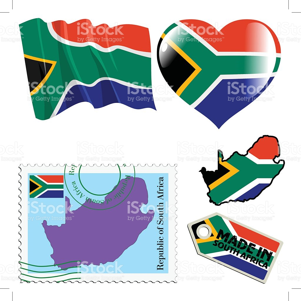 National Colours Of South Africa stock vector art 500278209.
