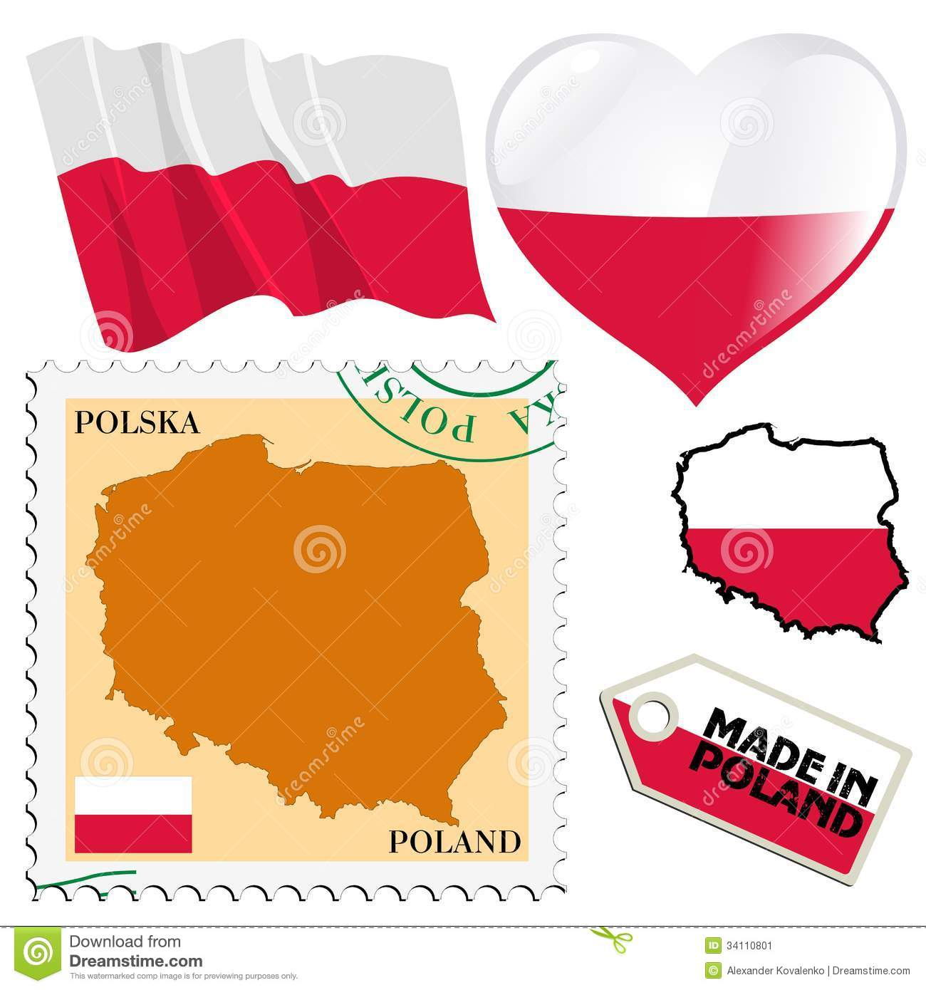 National Colours Of Poland Stock Image.