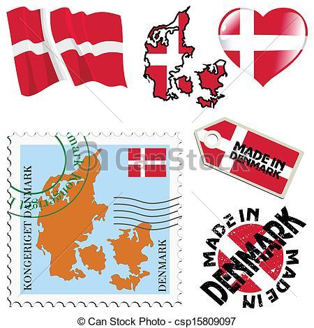 EPS Vectors of national colours of Denmark.