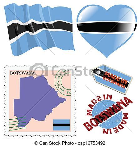 EPS Vectors of national colours of Botswana.