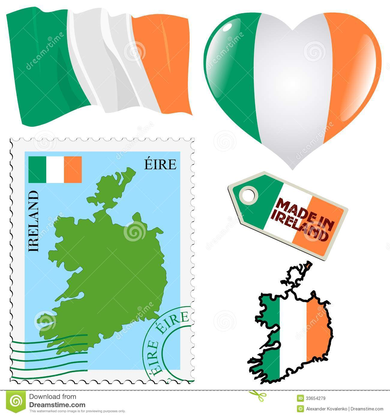 National Colours Of Ireland Royalty Free Stock Images.