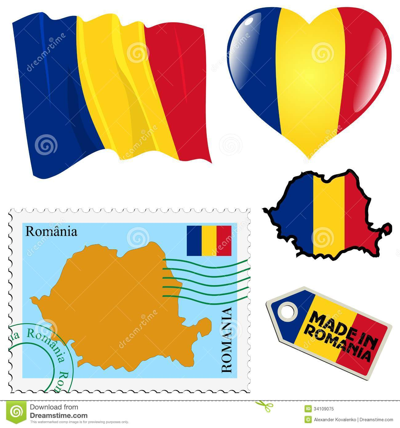 National Colours Of Romania Royalty Free Stock Photo.