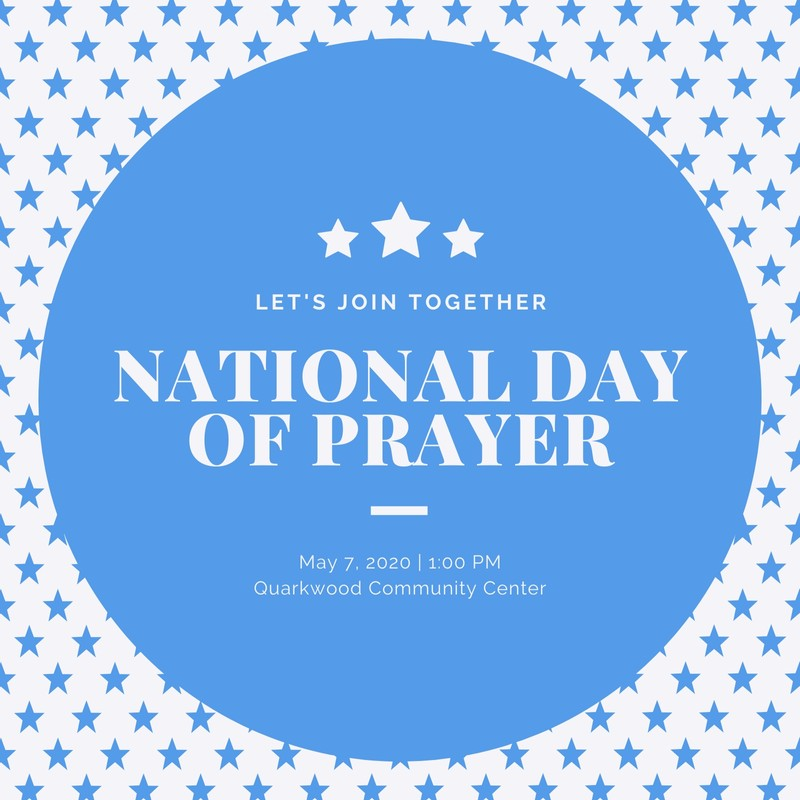 Blue and White Starry National Day of Prayer Social Media.