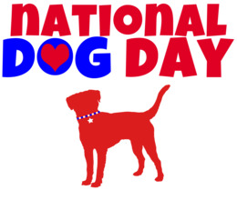 National Dog Day clipart.