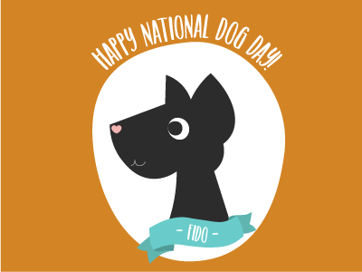 Happy National Dog Day! by Eloisa Docton on Dribbble.