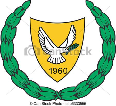 Clipart Vector of national emblem of Cyprus csp6333555.