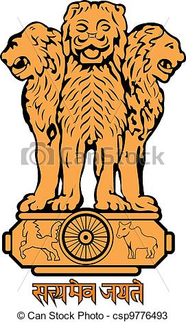 Indian national symbols clipart.