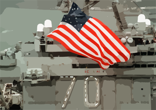 U.s. National Ensign Aboard Uss Carl Vinson Clip Art at Clker.com.