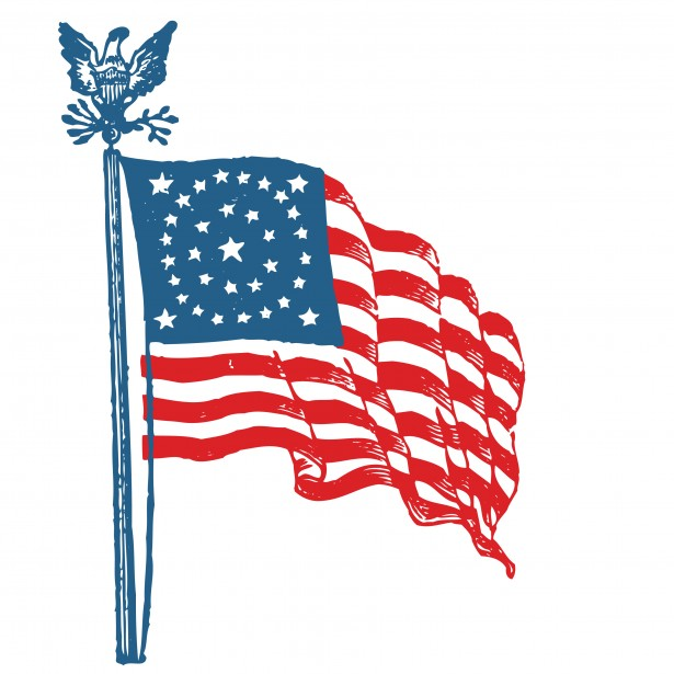 American Flag Clipart Free Stock Photo.