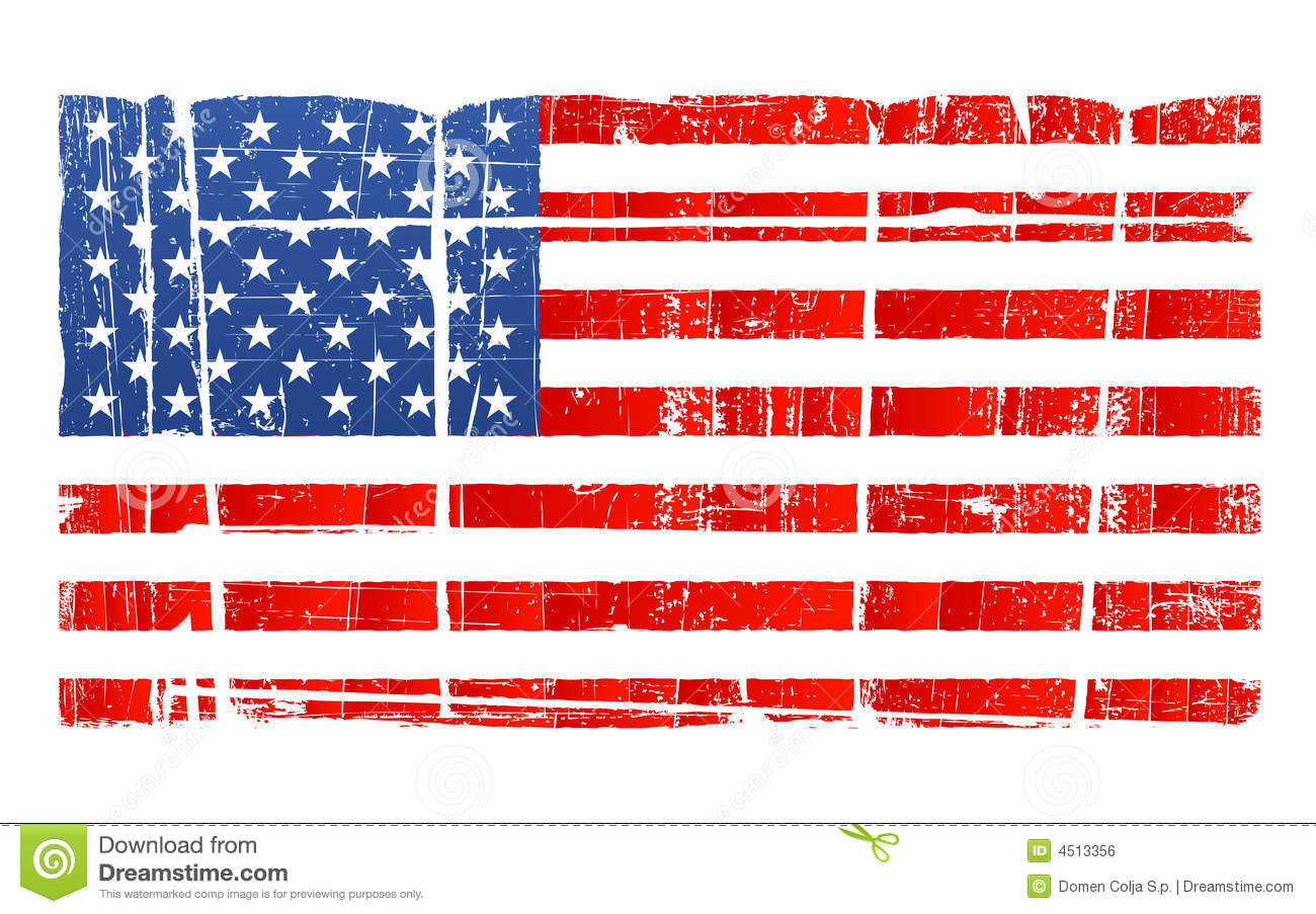 Showing respect to the flag clipart.