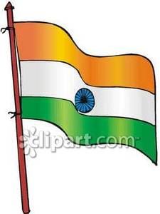 Indian national flag clipart.