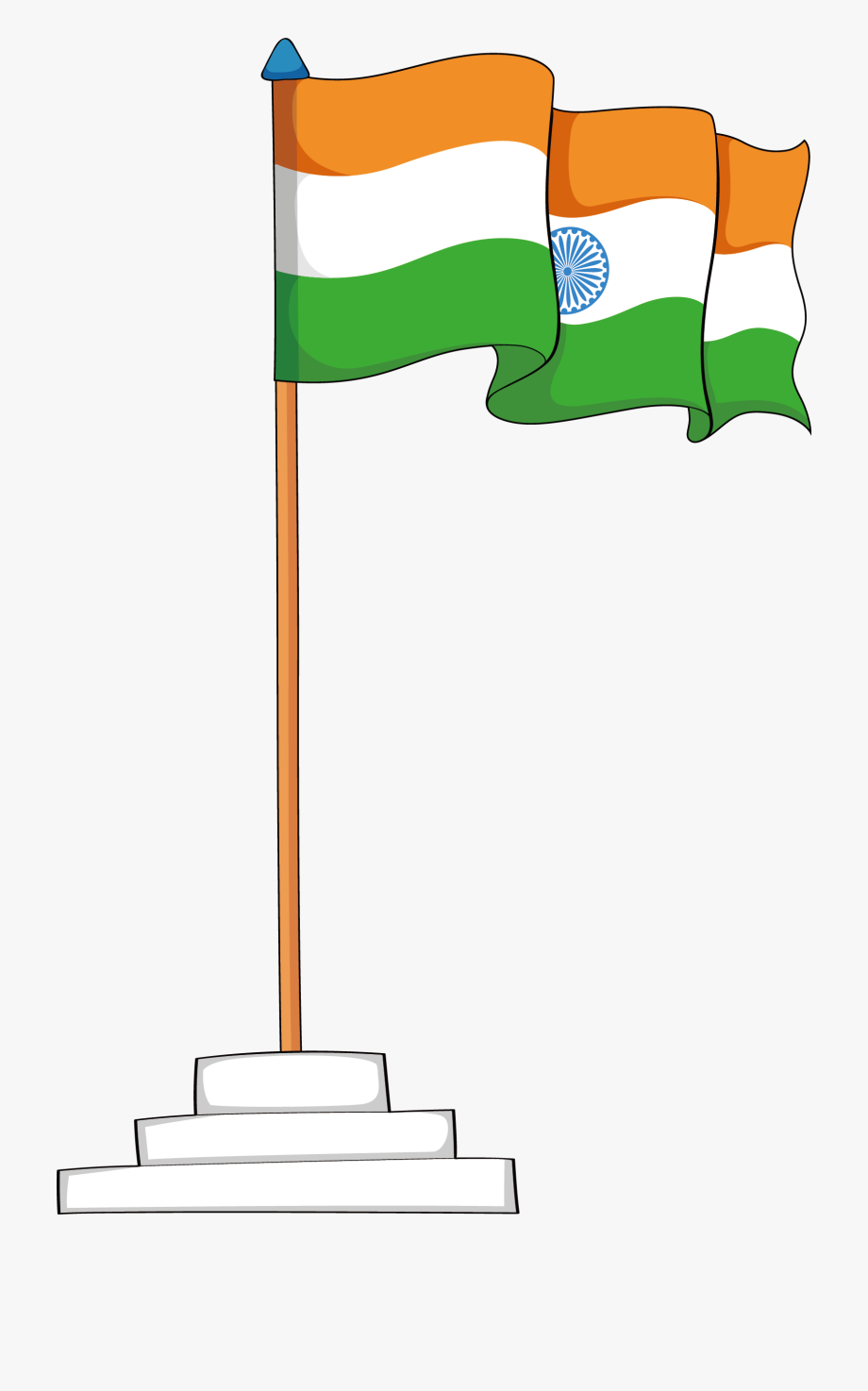 National Flag Of India Png, Cliparts & Cartoons.