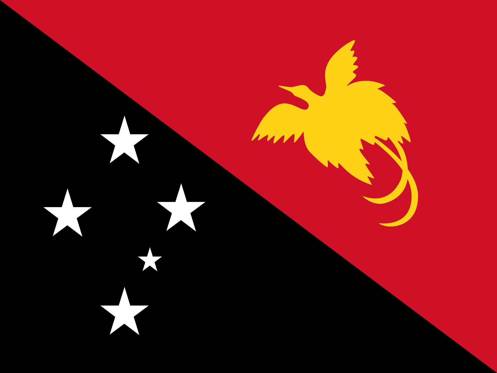Flag of Papua New Guinea.