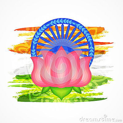 National Flower Lotus Indian Republic Day Celebration Stock.