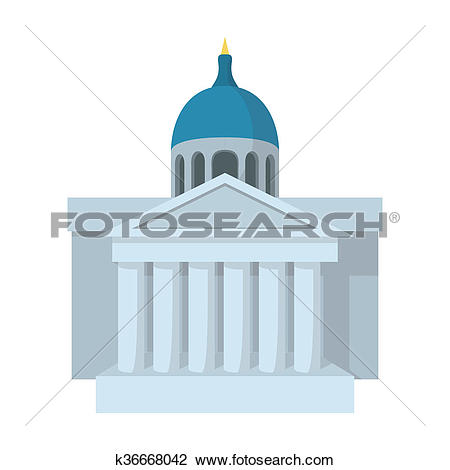 Clip Art of National Gallery of Art, London icon k36668042.