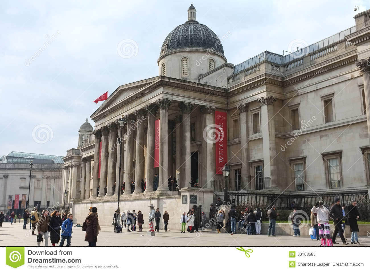 National Gallery London England Stock Photos, Images, & Pictures.