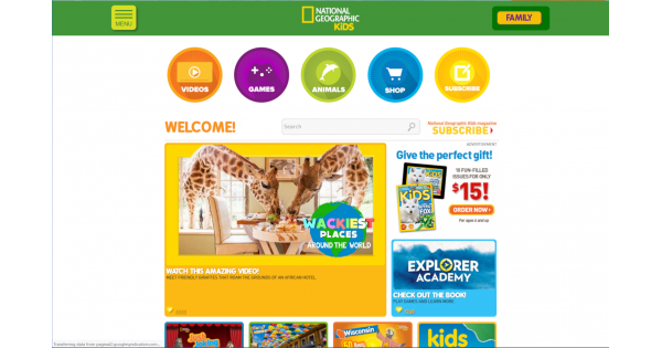 National Geographic Kids Website Review.