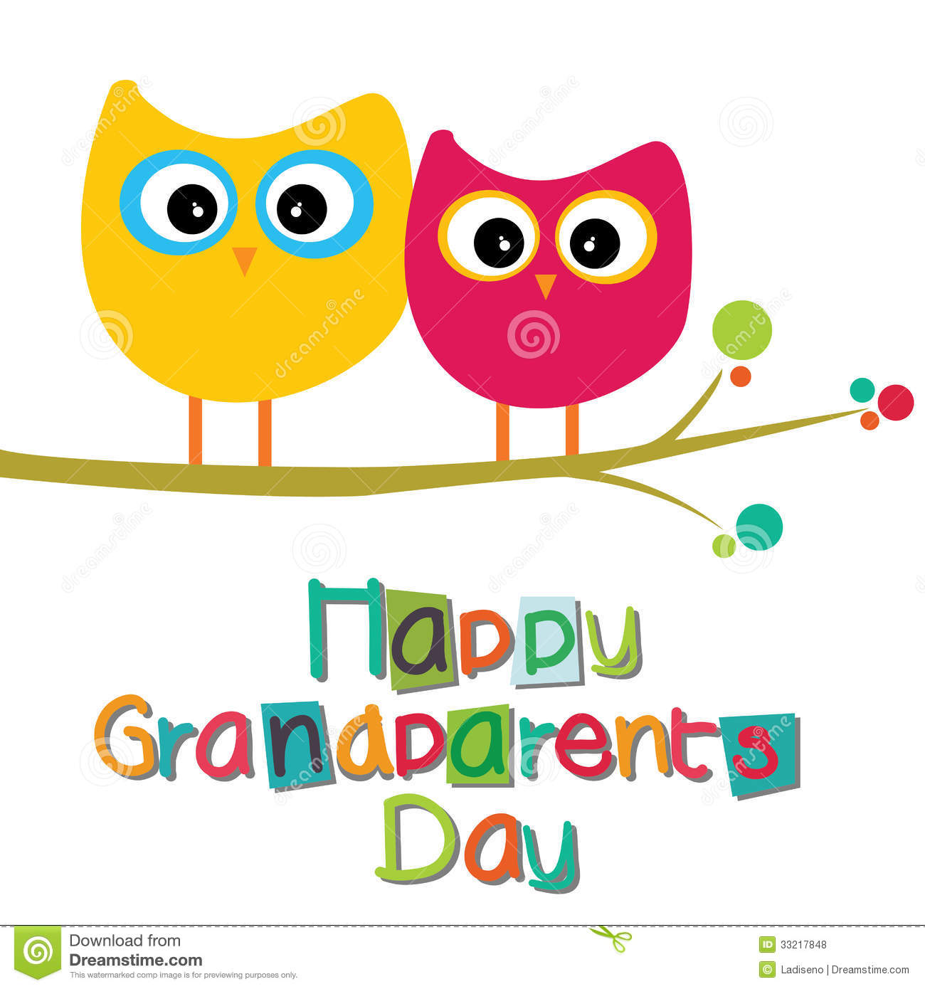 359 Grandparents Day free clipart.