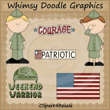 National Guard Clipart Set by Doodle World Graphics.
