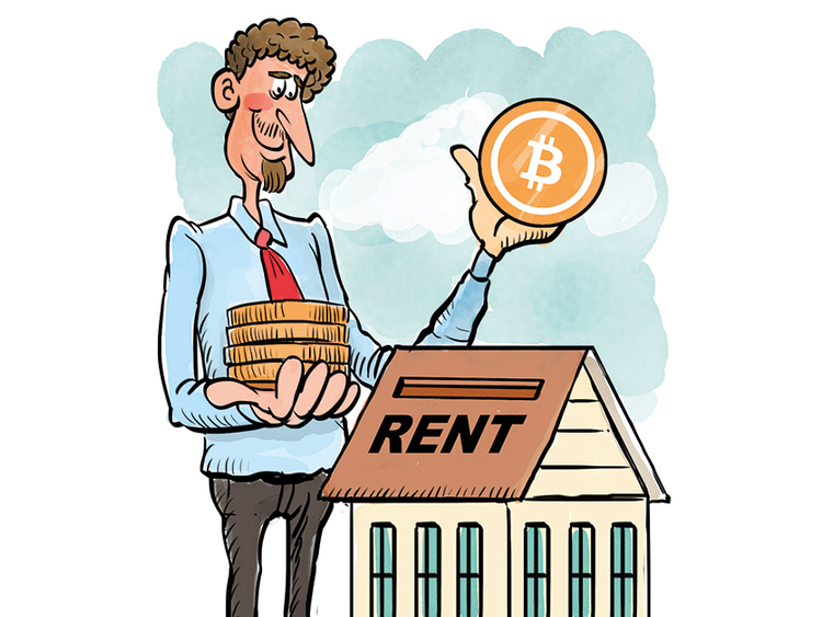 With bitcoin, you need to pay the annual rent in one go.