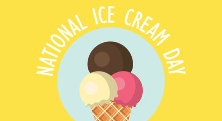 National ice cream day 2018 greeting cards. Free download.