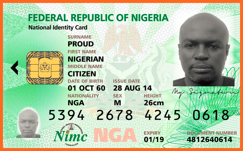 List of Nigeria Official Recognized National ID Cards & How.