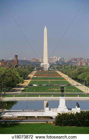 Stock Photo of National Mall Washington monument in Washington, DC.