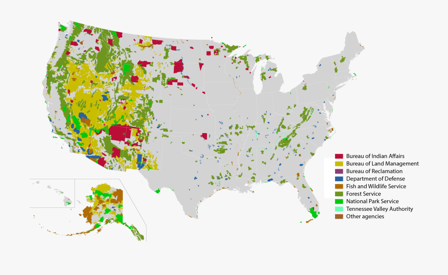 Federal And Native American Lands In The United States.