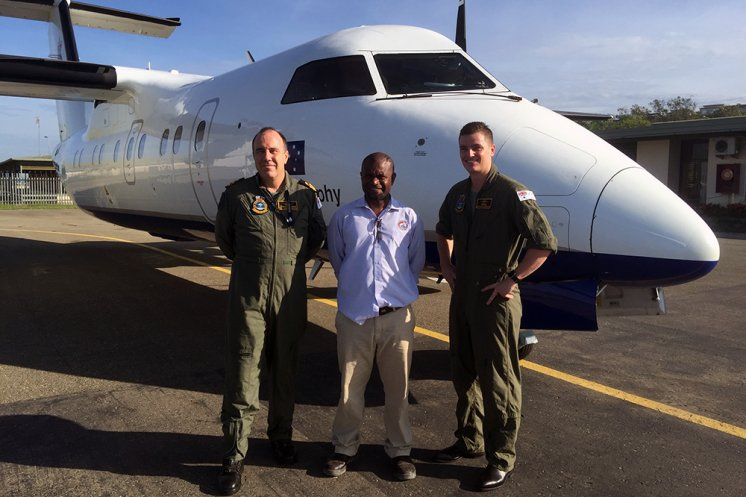 Navy airborne survey for PNG.
