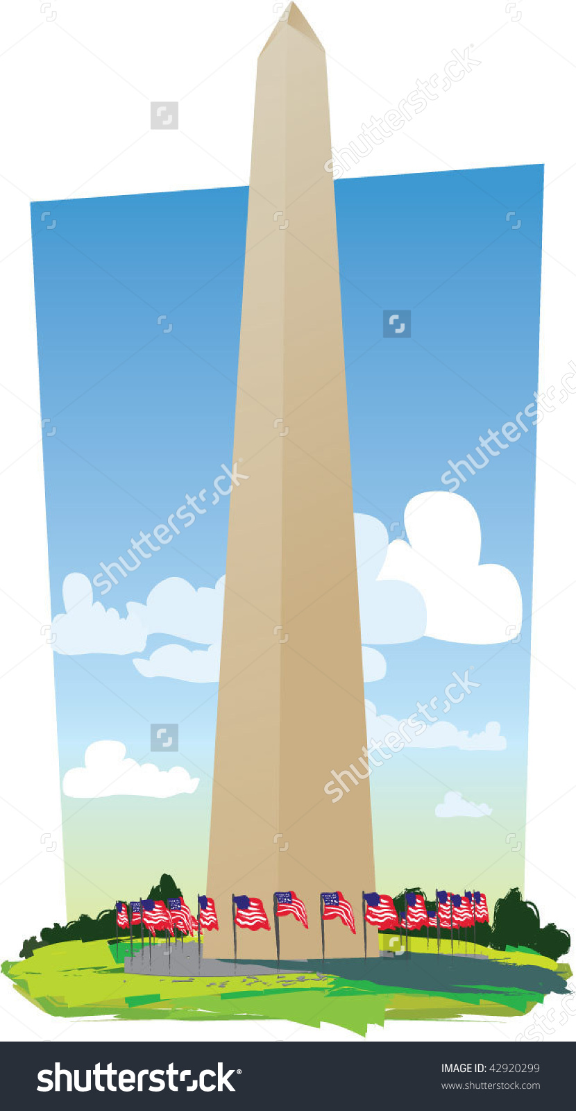 Washington Monument Stock Vector 42920299.