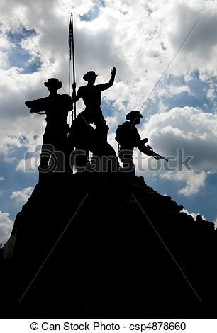 Stock Photography of Malaysia\'s National Monument.