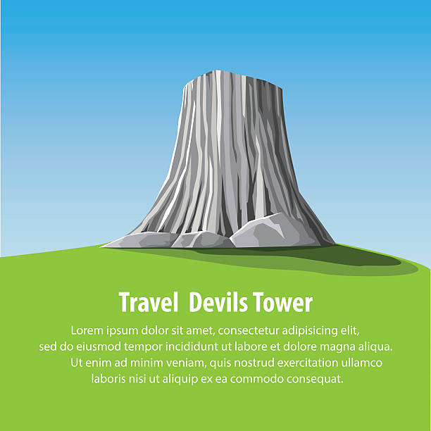 Devils Tower National Monument Clip Art, Vector Images.