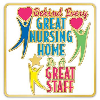 Nursing Home Lapel Pin With Presentation Card Item # LP1617L.