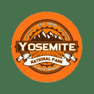 Yosemite National Park Sticker transparent PNG.