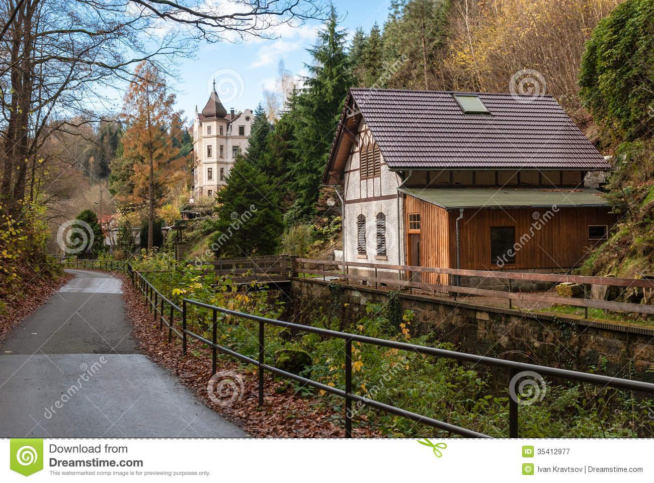 National Park Saxon Switzerland Bastei In Germany Royalty Free.