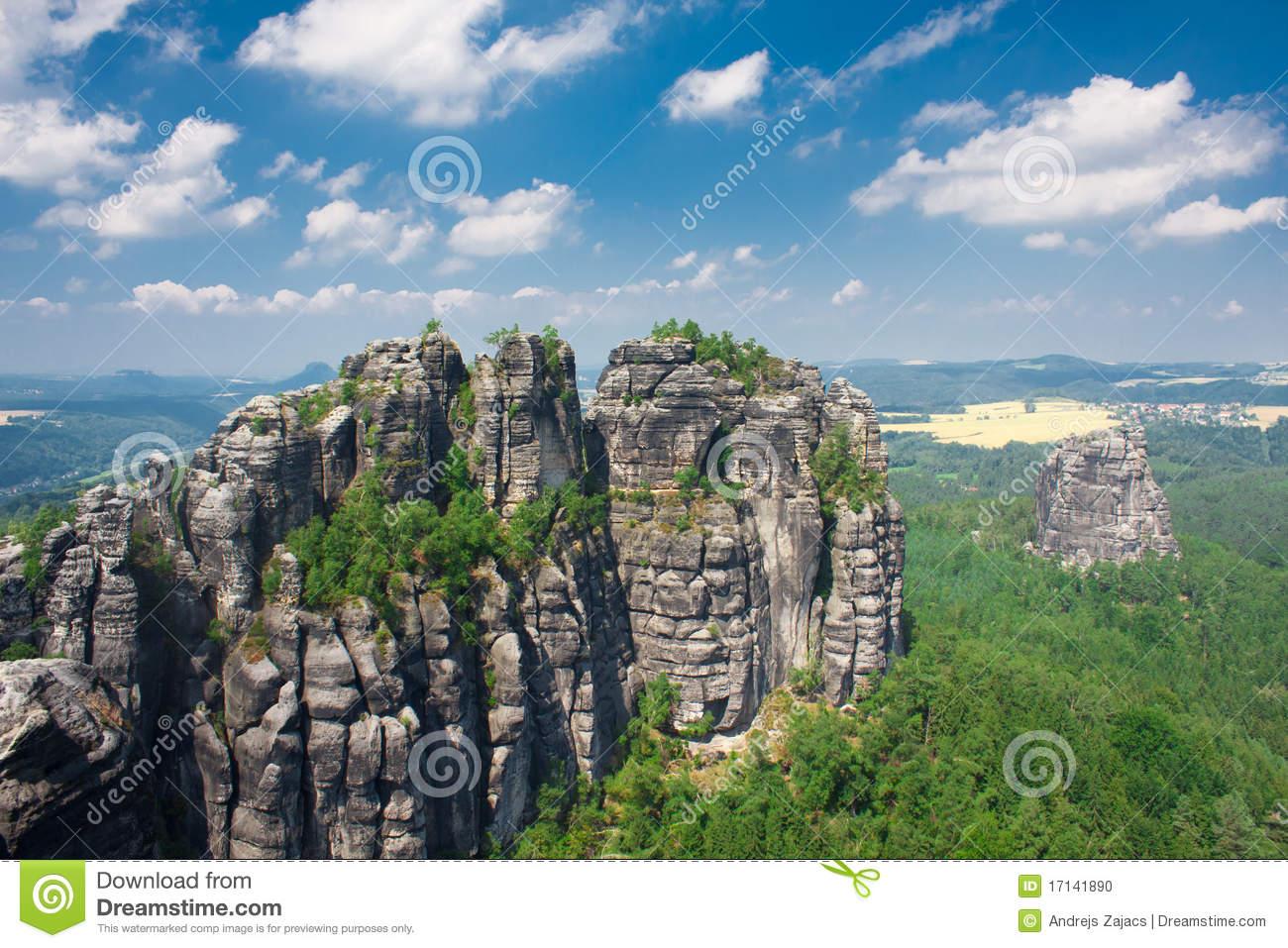 Saxon Switzerland National Park Stock Photo.