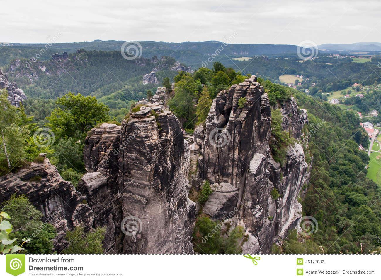 Saxon Switzerland National Park Stock Photography.