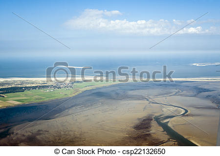 Stock Images of Aerial view from the Schleswig.