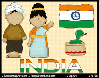 South African Kids Digital Clip Art Commercial Use Graphic.