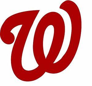 Details about BOGO FREE! MLB Red Washington Nationals Logo Car Sticker  Decal w/ no outline.