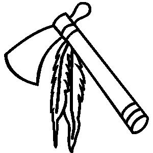 Native american tools clipart.