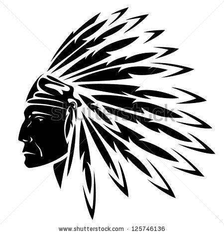 Native American Buffalo Head Clipart Free Silhouette