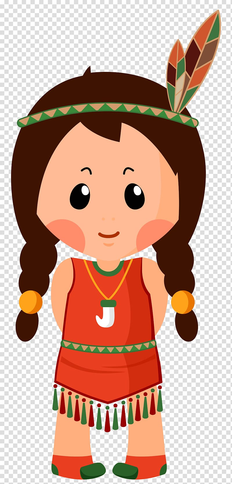 Animated native American girl , Native Americans in the.