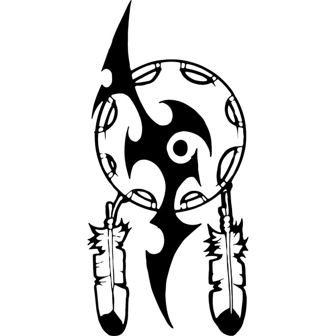 Native American shield free vector.
