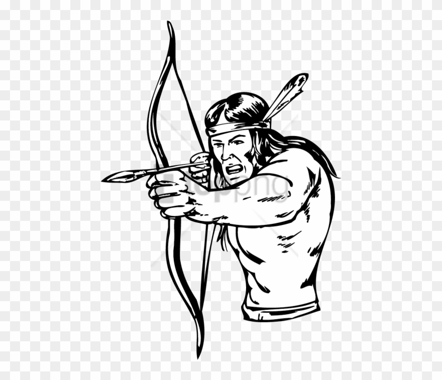 Free Png Native American Bow And Arrow Drawing Png.