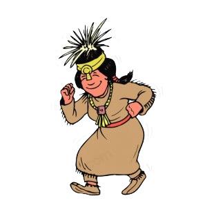 Native American Woman Dancing.