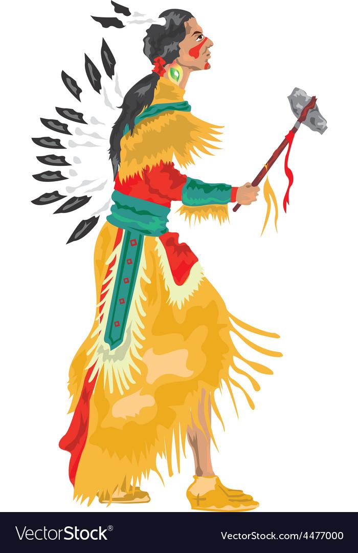 Native american cartoon.